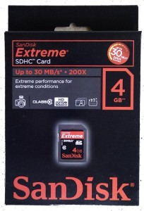 Sandisk Extreme III SDHC card Transfers at 30MB/s