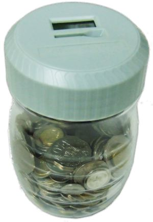 Automatic Coin Counter filled with coins