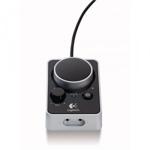Logitech Z4 Speakers - wired remote control with power button, volume, bass, headphone socket and line in socket