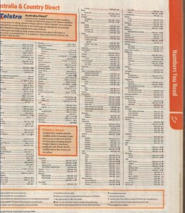Page from the Phone Book Scanned with Skypix Portable Scanner