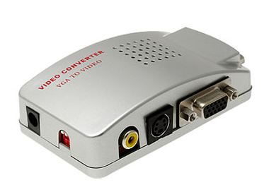 Connect your PC to your TV with the VGA to Video Signal Converter Box