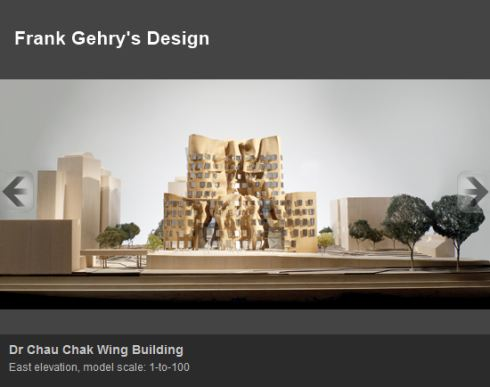 World Famous Architect Frank Gehry's design of the Dr Chau Chak Wing Building, location of the new UTS Business School, shown from the East Elevation