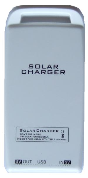 Rear of USB Solar Charger