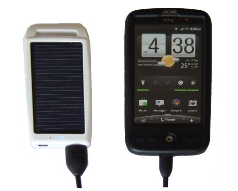 USB Solar Battery Recharging HTC Desire Android Phone
