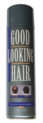 GLH - Good Looking Hair - Hair Thickening Spray covers bald patches and thickens thinning regions of hair