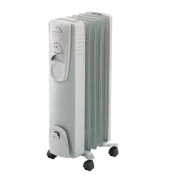 Heller 5-Fin 1000W Electric Oil Heater, also called an Electric Column Radiator